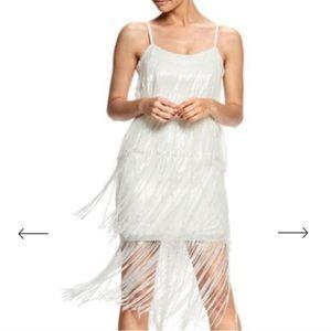 Dress the Population Roxy White Fringe Dress